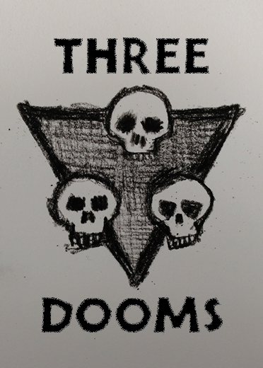 Three skulls logo